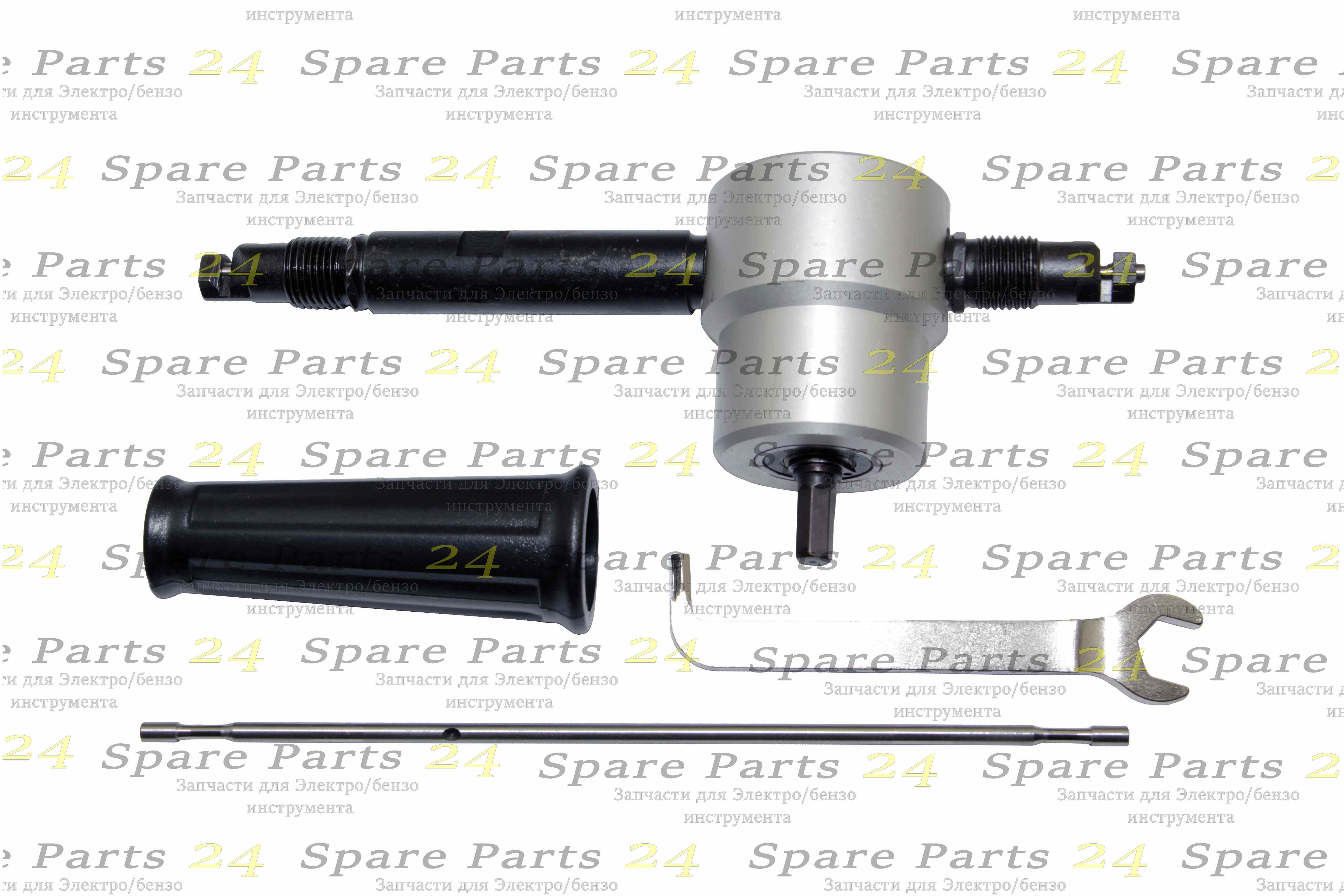 Запчасти для электроинструмента / Насадка для дрель (шуруповёрт) просечные ножницы двухсторонние с доп. пуансоном