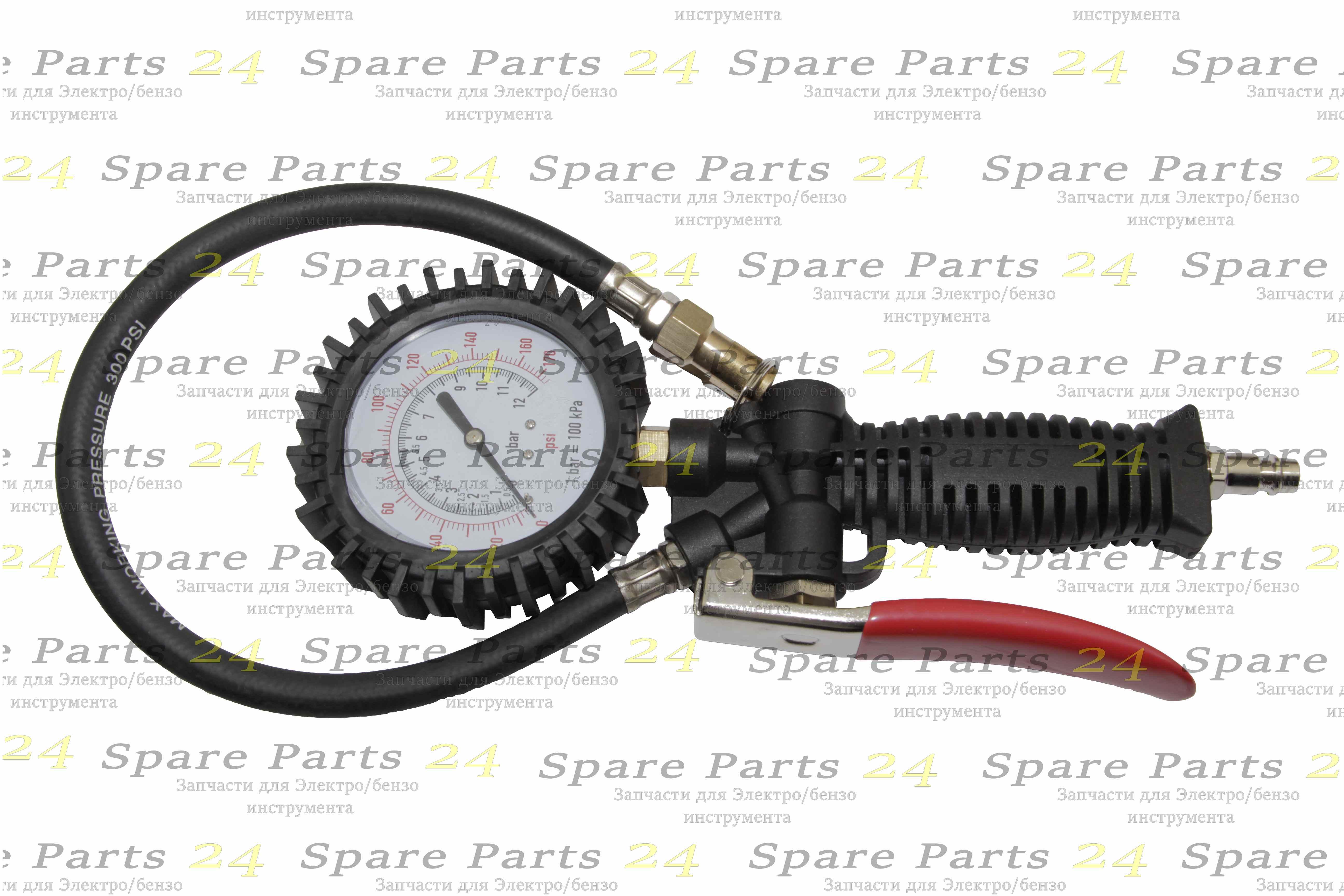 Запчасти для электроинструмента / пистолет для подкачки шин с вращающимся манометром высокого качества изготовления и показаний