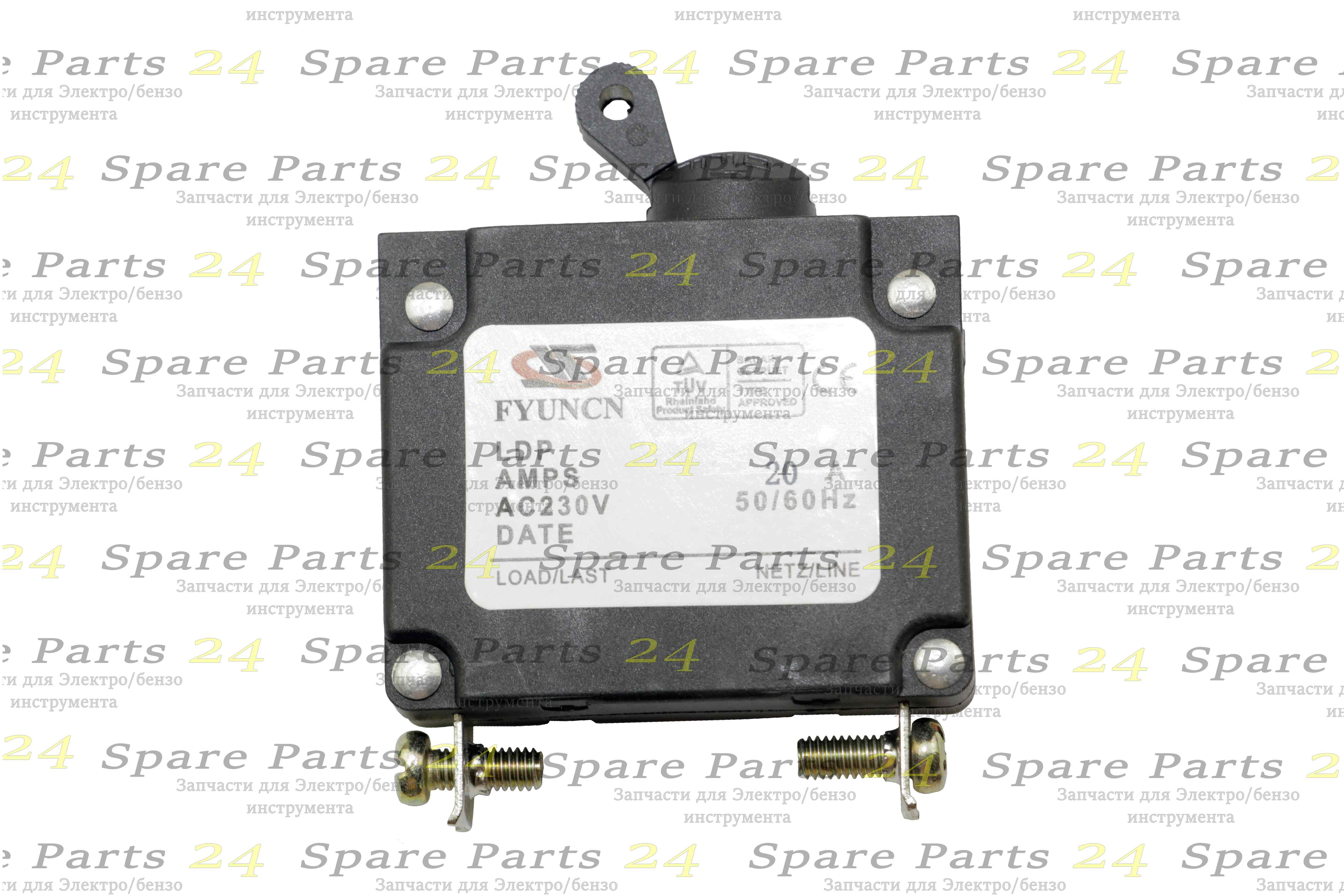 Выключатели / Выключатель -автомат для генератора малый до 3 kw20A