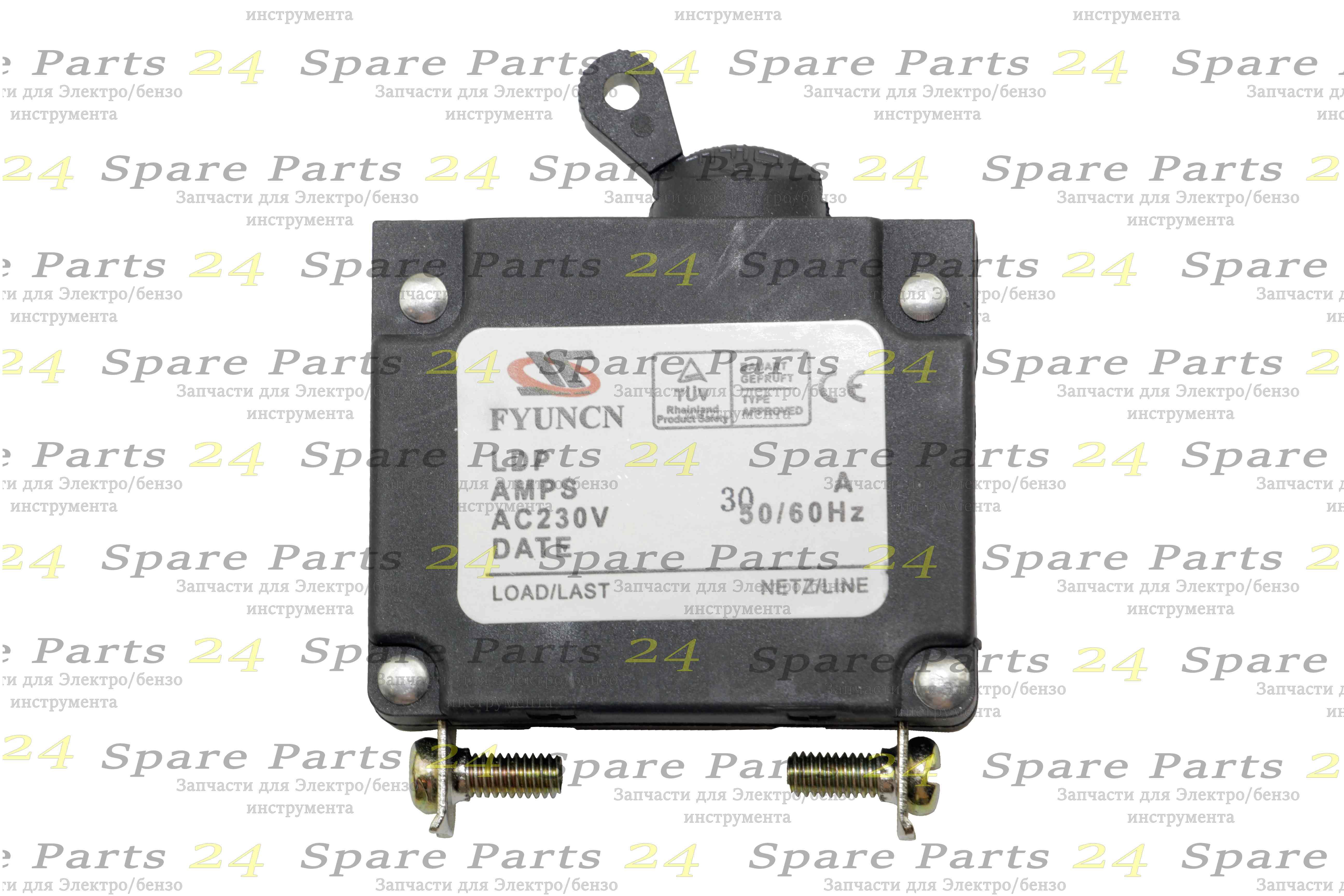 Выключатели / Выключатель -автомат для генератора малый до 3 kw-30А